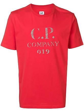 C.P. Company Camiseta com logo - Vermelho
