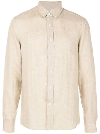 Brunello Cucinelli Camisa lisa com botões - Marrom