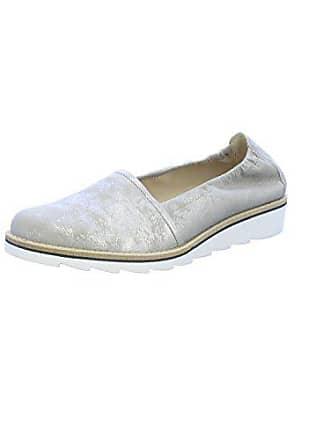 Gabor Fashion Damenschuhe 41.444.62 Damen Slipper Espandrille Leder  (Wildleder) Grau (Visone 2b01b6e4bb
