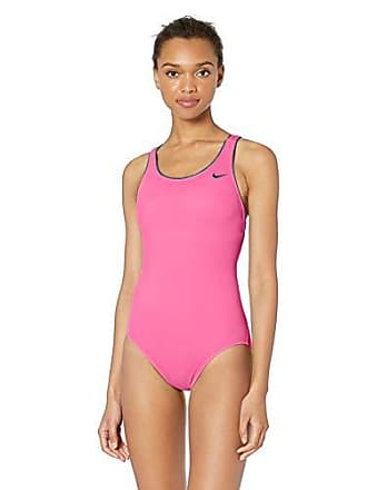 6ebedcc07 Delivery: free. Nike Swim Womens Solid Powerback One Piece Swimsuit, Laser  Fuchsia, Large