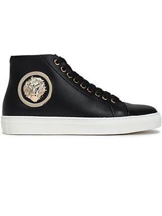 d0d7f7520326 Versus Versus Versace Woman Embellished Leather High-top Sneakers Black  Size 40
