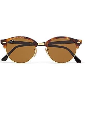 Ray-Ban Clubround Acetate And Gold-tone Sunglasses - Tortoiseshell