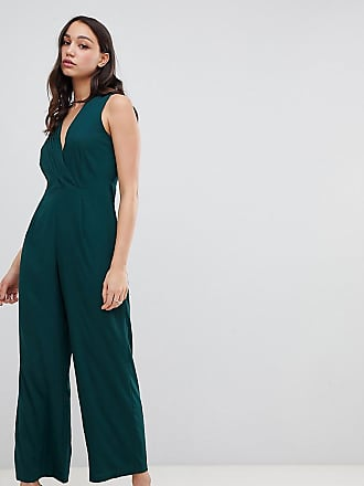 029b3276659d Vero Moda Tall Tuta jumpsuit con finto incrocio - Verde