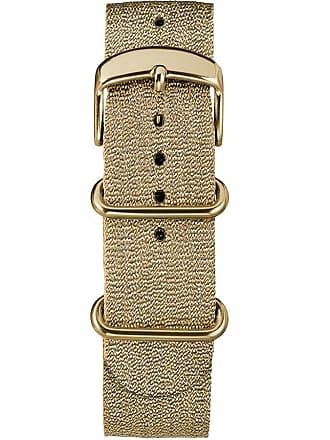 Timex Watch Womens 20MM Metallic Woven Fabric Slip-Thru Strap Gold-Tone Item Tw7C27600Gz