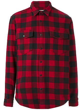 Osklen Camisa xadrez com bolsos - Vermelho