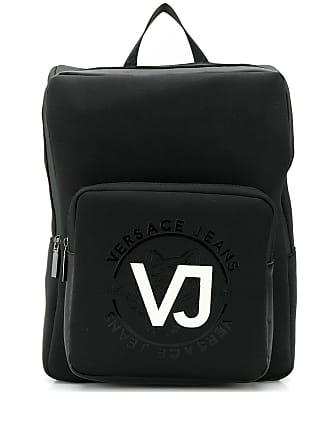 Versace Jeans Couture Mochila com estampa de logo - Preto