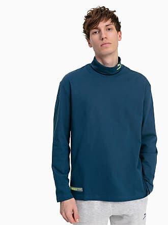 Puma Turtleneck Long Sleeve Mens T-Shirt, Blue Wing Teal, size 2X Large, Clothing