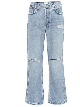 Re/Done Low Slung Crop bootcut jeans