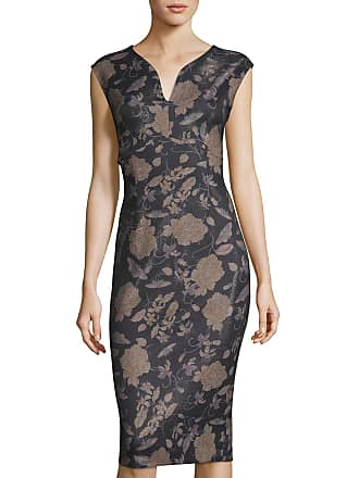5twelve Floral Bonded Scuba Crepe Sheath Dress