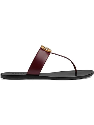 ed026e40b11a Gucci Leather thong sandal with Double G - Red