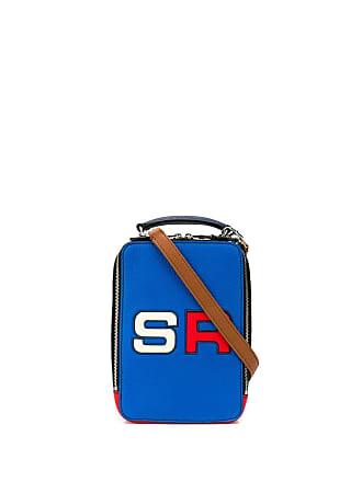 Sonia Rykiel Bolsa transversal color block com logo - Azul