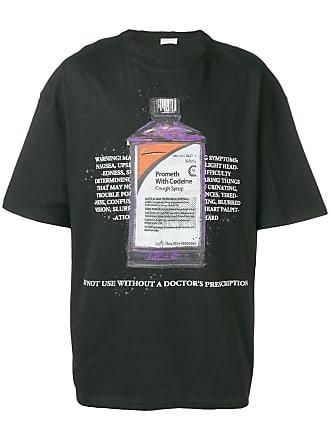 Ih Nom Uh Nit cough syrup bottle print T-shirt - Black