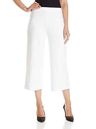 Joan Vass Womens Cropped Wide Leg Pant, White, 3