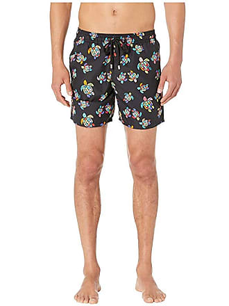 43b8fea1a2 Vilebrequin Moorea Over the Rainbow Turtles Swim Trunks (Black) Mens  Swimwear