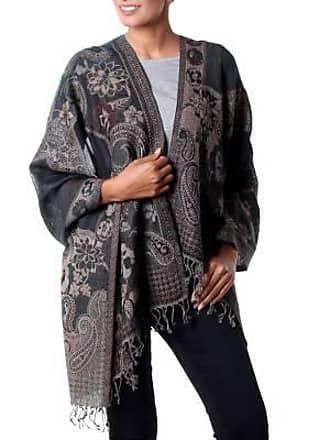 Novica Jamawar wool shawl, Subtle Splendor