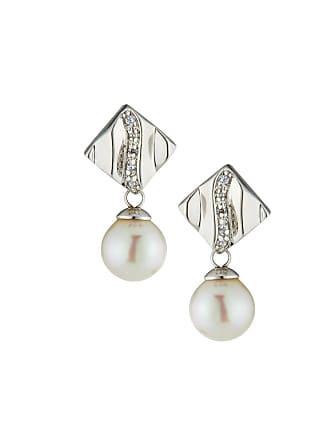 Majorica Plume Cubic Zirconia Pearl Drop Earrings