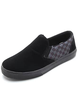 Ride Skateboard Slip On Ride Skateboard Xadrez Preto