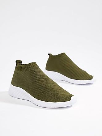 9c43027f4f29 Asos Darlington - Baskets façon chaussettes - Vert