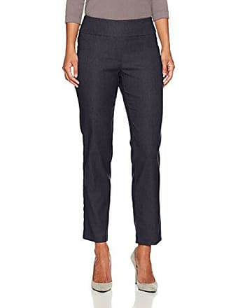 Ruby Rd. Womens Petite Pull-on Heathered Millennium Tech Stretch Pant, Navy, 12P