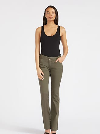 Alloy Apparel Tall Skinny Twill Bootcut Plus Size Pants for Women Olive 15/35 - Cotton