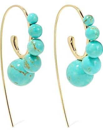 Ippolita Nova 18-karat Gold Turquoise Earrings