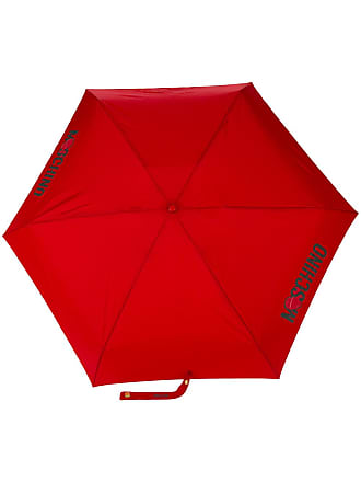 Moschino logo print umbrella - Red