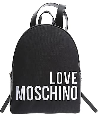 Moschino Backpack for Women On Sale, Black, Canvas, 2017, one size