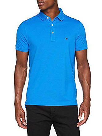 38ba23d9 Tommy Hilfiger Mens Slim Fit Polo Shirt, Strong Blue, XX-Large