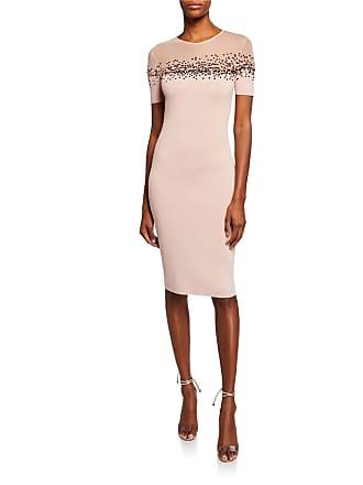 92f90b4263d1 Sachin & Babi August Short-Sleeve Bodycon Dress w/ Sheer Yoke & Sequin  Detail