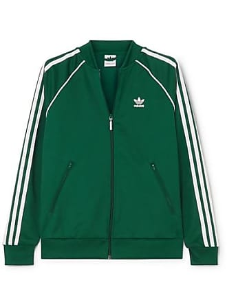 d30a1fcbcbe5d adidas Originals Superstar Striped Satin-jersey Track Jacket - Green