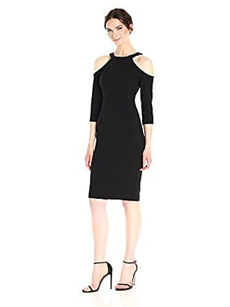 f45299b3 Black Halo Womens Thorpe Cold Shoulder Sheath Dress, Black, 2