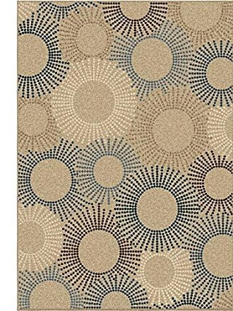 Orian Rugs Four Seasons Indoor/Outdoor Ray of Light Area Rug, 52 x 76, Beige