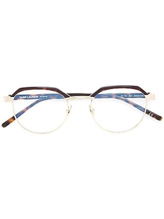 Saint Laurent Eyewear Óculos com armação geométrica - Metálico