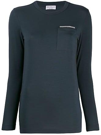 Brunello Cucinelli chest pocket T-shirt - Azul