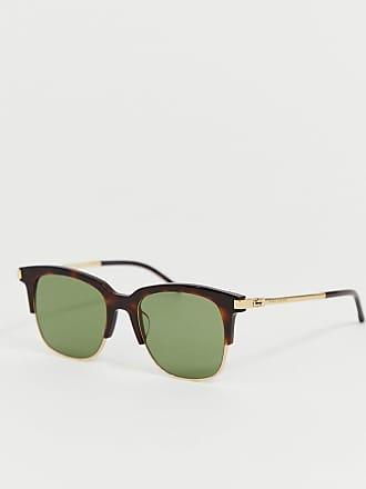 9a59e8ac6ffc Marc Jacobs Square Sunglasses with Partial Tortoiseshell Frame - Multi