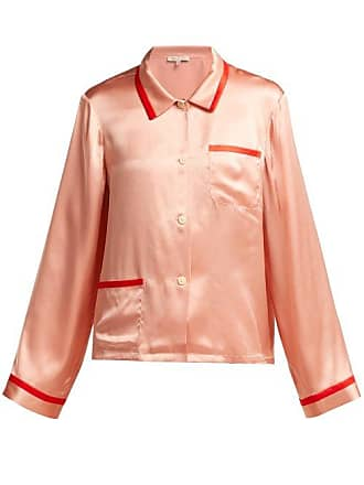 4ba17c1000135 Morgan Lane Ruthie Silk Satin Pyjama Top - Womens - Pink