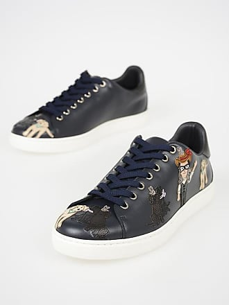 Dolce & Gabbana Leather Animals Patch Sneakers size 40