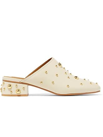 See By Chloé Studded Leather Mules - Cream