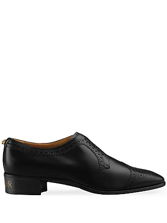 5fc597b84aa Gucci Leather lace-up with brogue detail - Black