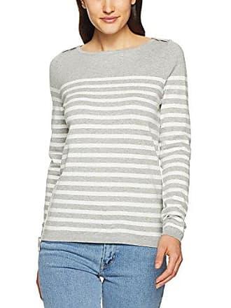 c7070161 Tommy Hilfiger Tommy Hilfiger Womens New Ivy Boat Neck Striped Sweater,  Heather Light Grey/