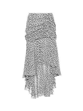 Veronica Beard Floral-printed silk skirt