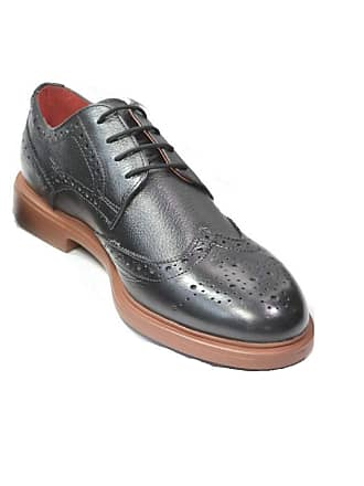242e4908b49843 Lambretta Mens Spencer Brogue Lace Shoes (9 UK) (Black)