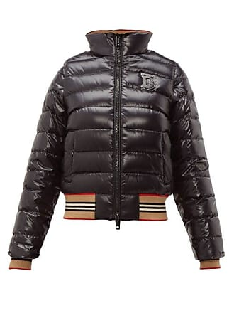 4a395e71942 Burberry Icon Stripe Detachable Sleeve Down Jacket - Womens - Black Multi