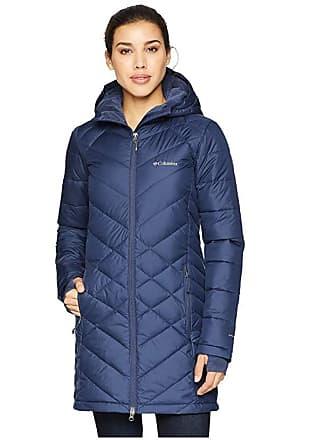 64ab7e21659 Columbia Heavenly Long Hooded Jacket (Nocturnal) Womens Coat