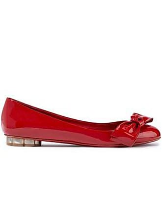 Salvatore Ferragamo Salvatore Ferragamo Woman Avola Bow-embellished Patent-leather Ballet Flats Red Size 5.5