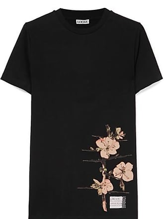 Loewe Printed Cotton-jersey T-shirt - Black