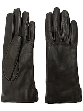 Mario Portolano leather gloves - Preto