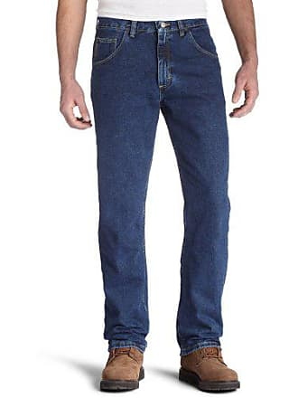 Wrangler Mens Regular Fit Jeans, Dark Denim, 38W x 29L