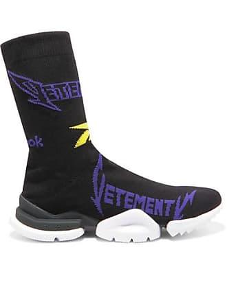 d99bda5871f8 VETEMENTS + Reebok Metal Logo-jacquard Stretch-knit Sneakers - Black
