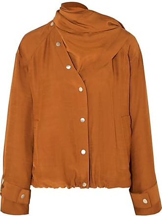 3.1 Phillip Lim Draped Convertible Sateen Jacket - Brown